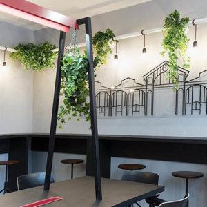 agencement de décoration florale pour restaurant